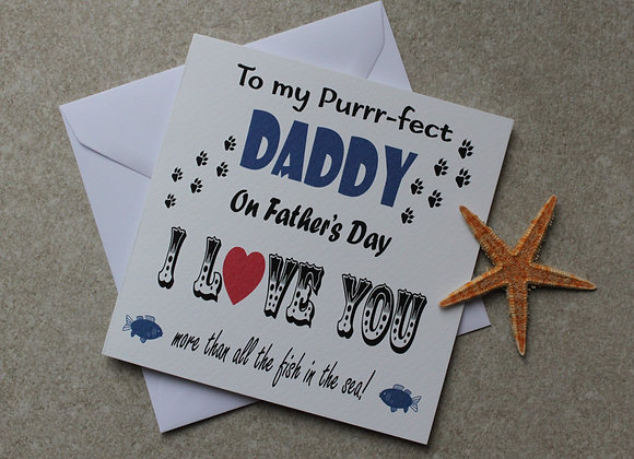 Father's Day Card to Dad from the Cat