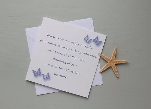 On your Angel's Birthday - Card
