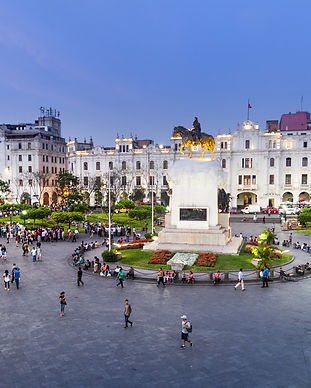 LIMA, PERU_ View of San Martin square..j