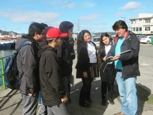 """""""Estudiantes de la Especialidad de Construcción participan del proyecto: A dónde vas Chiloé: Comunic"""