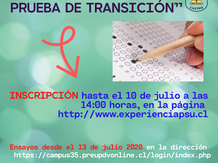 """""""TERCERA EXPERIENCIA PRUEBA DE TRANSICIÓN""""."""