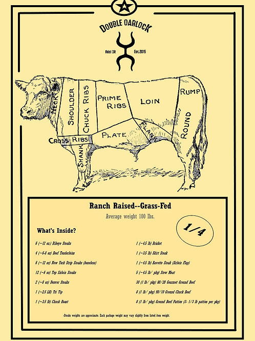 1/4 Side of Ranch Raised Beef