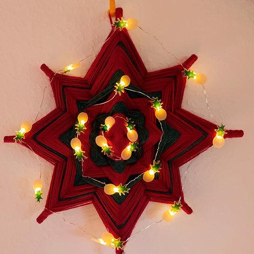 Weihnachtsstern rot/grün 30cm