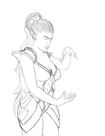 Druid pencil sketch