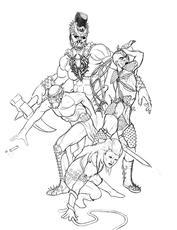 Darkun Death Commando pencil sketch