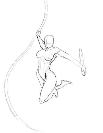 Assassin pencil sketch