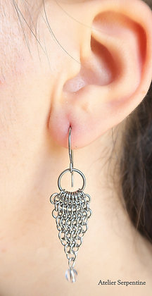 """Boucles d'oreilles """"RODRIGUE"""" Cristal de roche"""
