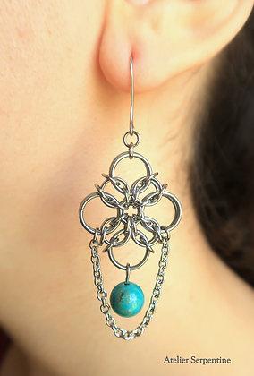 """Boucles d'oreilles """"BALATIR"""" Turquoise"""