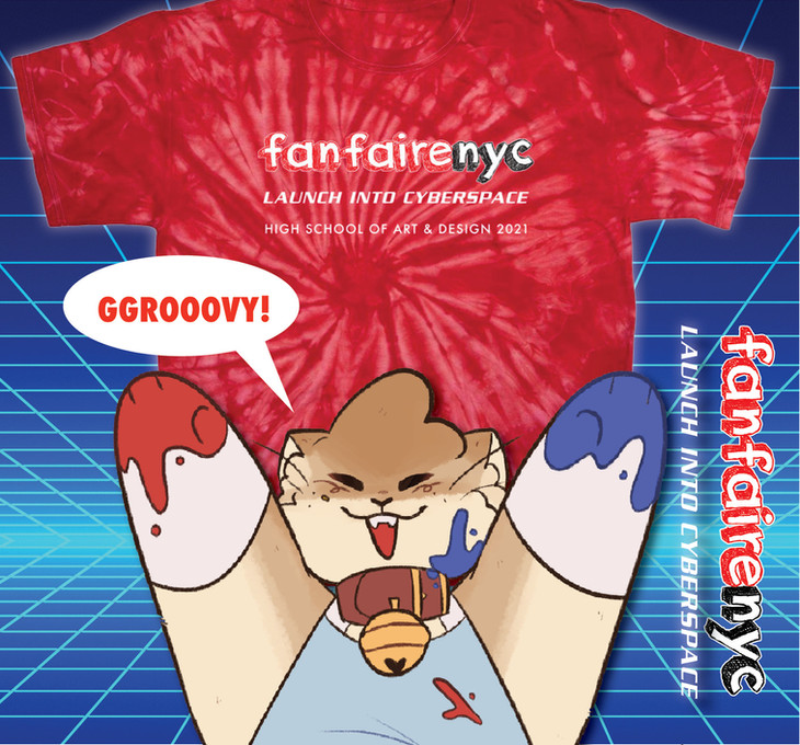 Fanfaire NYC 2021 Logo Tie-Dye T-Shirt