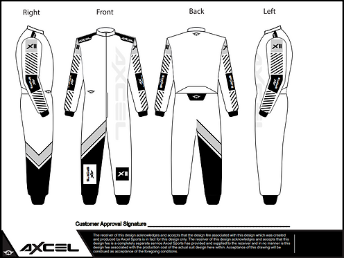CIK Axcel Xtreme II Suit WGB