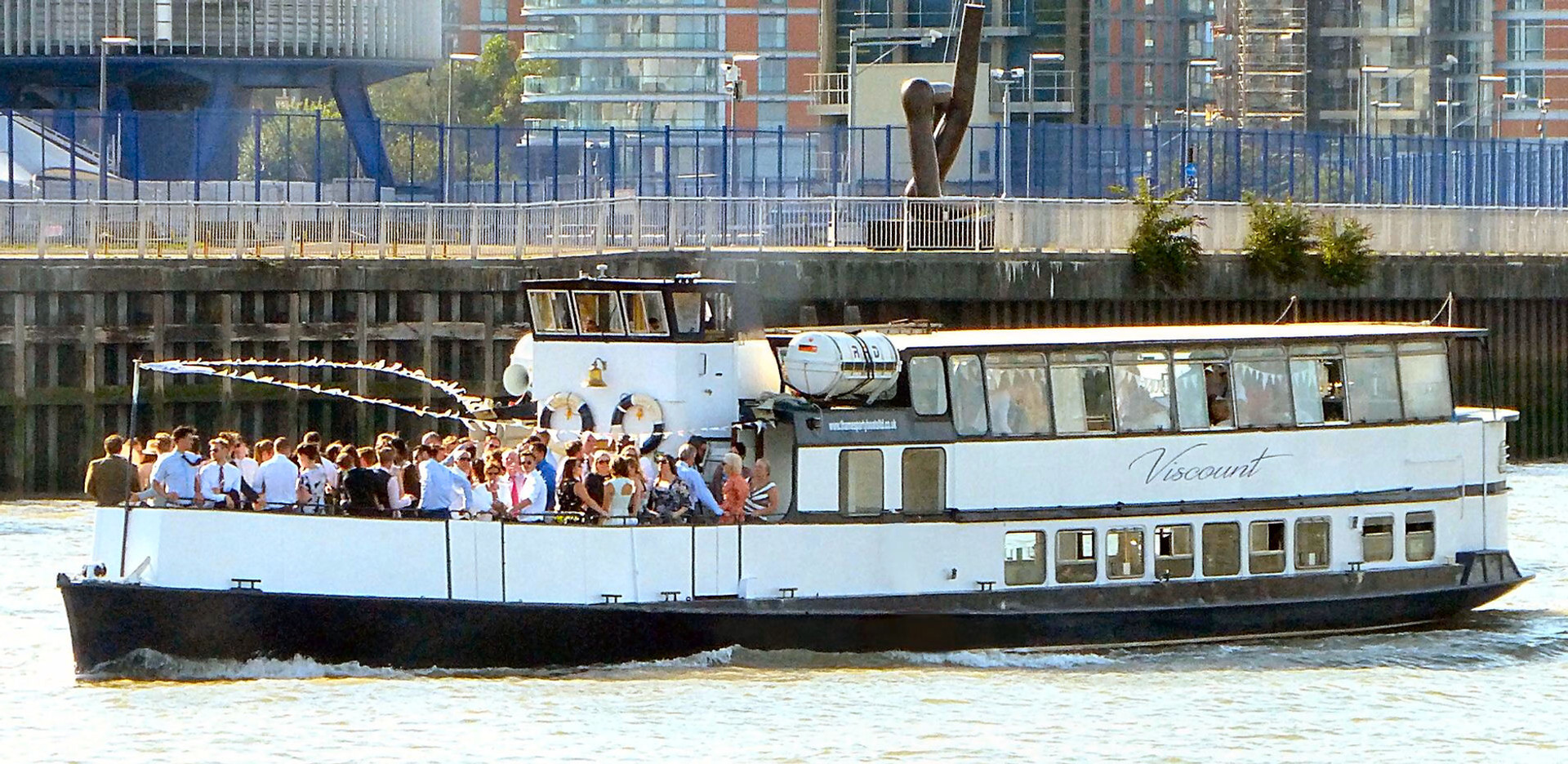 The MV Viscount Thames River Boat