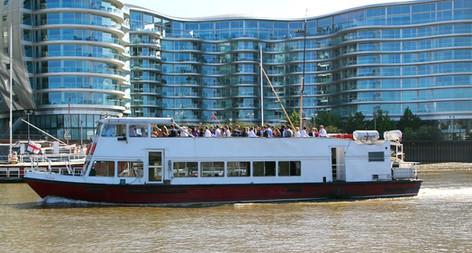 The MV Valulla Thames River Boat for Hire