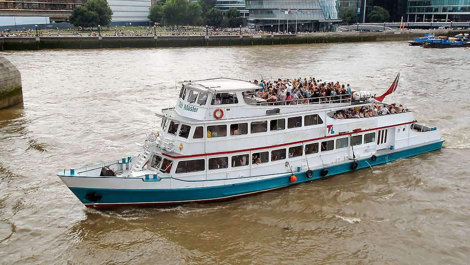 Dutch Master on a London river party boat
