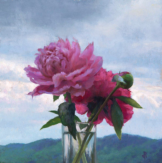 Peonies in the Mountains