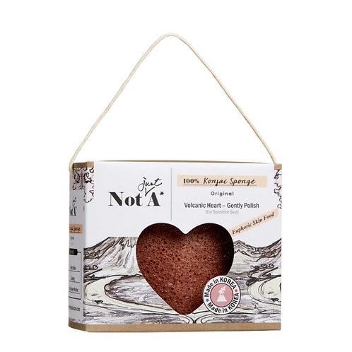 Volcanic Power Puff (Heart Shape - Special Edition) - Konjac Face Sponge