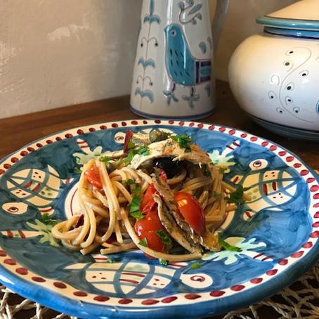 Ricetta donata da: Chef Daniele Calì - Spaghettone integrale con Alici fresche