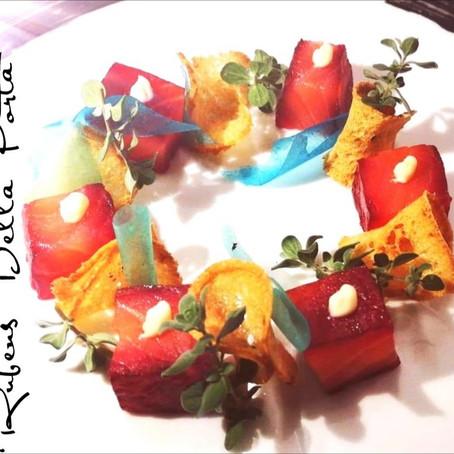 Ricetta donata da: Chef Rubens Della Porta - Salmone Dry alla rapa rossa