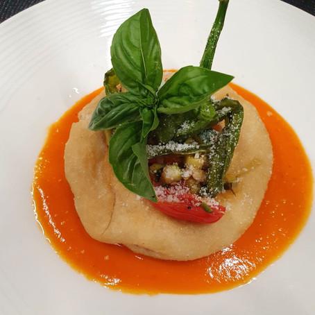 Ricetta donata da: Chef Guacci Antonio - Montanara su crema di peperoni rossi e verdure di stagione