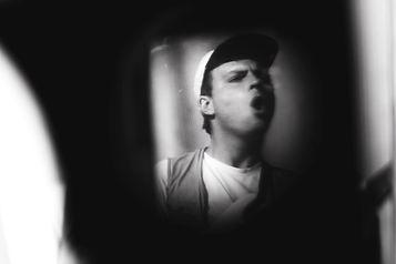 Mac de Marco, Treasure Island Music Festival, Synesthesianow, Corgam, Documentary Photography, Music Photojournalist, Lomography, lens distortion, monochrome, black and white