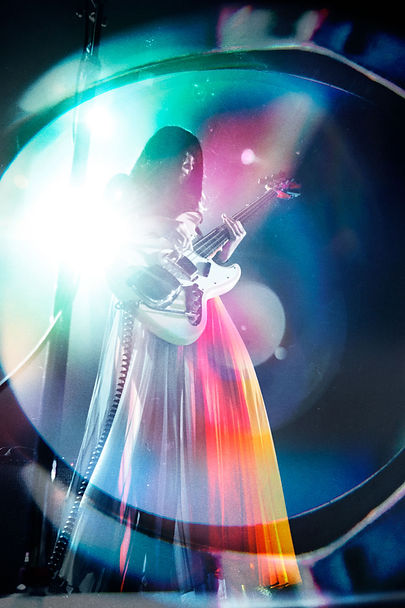 Khruangbin, The Fillmore, San Francisco, Corgam, Synesthesia, Experimental Photography, Lens Distortion