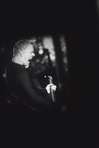 James Hetfield, Metallica, Outside Lands, Synesthesianow, Corgam, Documentary Photography, Music Photojournalist, Lomography, lens distortion, monochrome, black and white