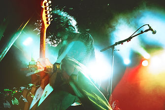 Nick Valensi of CRX at Slim's in San Francisco, photo by Corgam for Synesthesia. Experimental Photography. Double Exposure. Light Leaks. Photoeditor. Photograder. Fender Telecaster. Concert Photography.