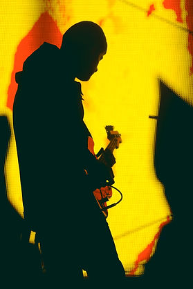 Tycho. Silhouette. Guitarist. Rock Photography. Backlit. Contrast. Photo by Corgam