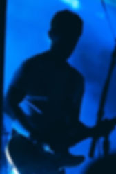 Rusell Lissak from Bloc Party in silhouette by Corgam