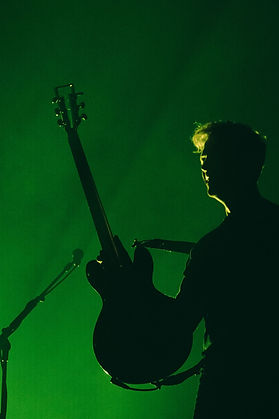 Silhouette. Guitarist. Rock Photography. Backlit. Contrast. Photo by Corgam