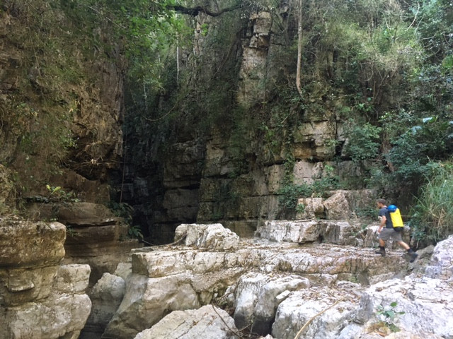 Entrée du canyon souterrain du Chorreadero