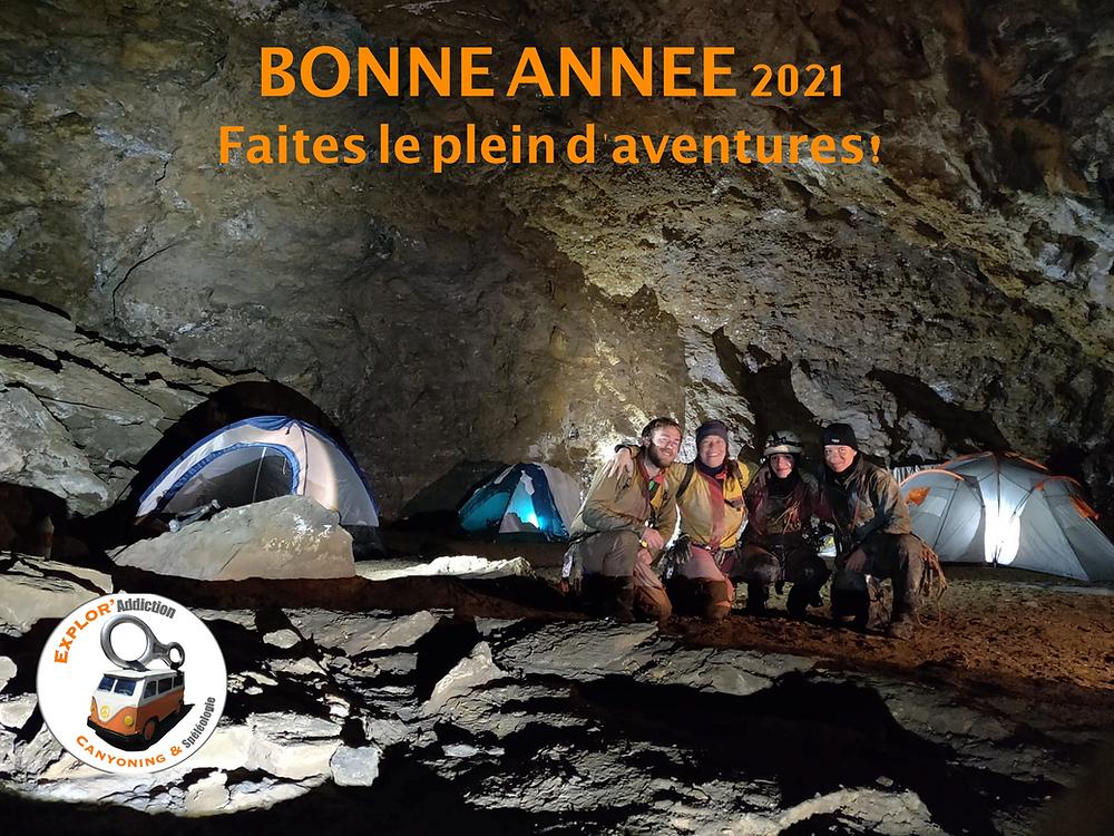 Spéléologie : Bivouac au fond du Gouffre Belle, Ariège