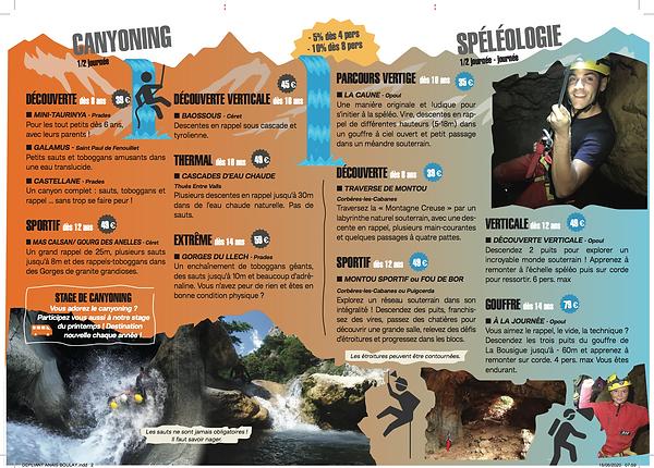 Activité de canyoning et de spéléologie avec Explor'Addiction dans les Pyrénées Orientales