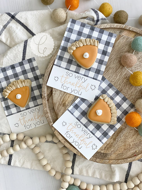 pumpkin pie cookie card