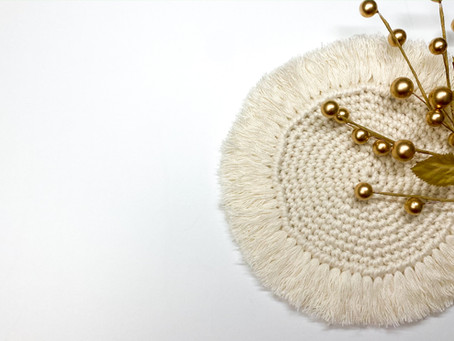 How to Crochet a Boho Coaster
