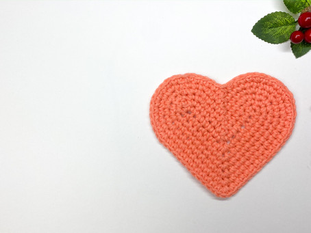 How to Crochet a Heart Coaster