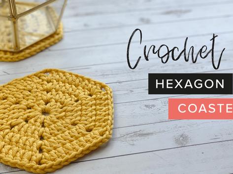 How to Crochet a Hexagon Coaster