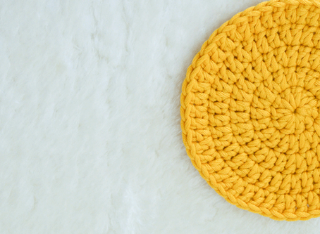 How To Crochet a Flat Circle Coaster (US Terms)