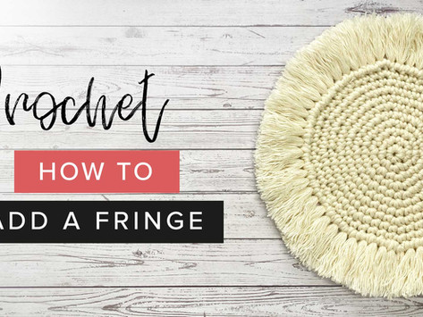How to Apply a Fringe to your Crochet Coaster