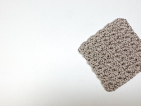 How to Crochet a Textured Square Coaster (Wattle Stitch)