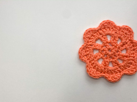 How to Crochet a Flower Coaster