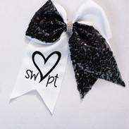 Cheerleading bow (white)