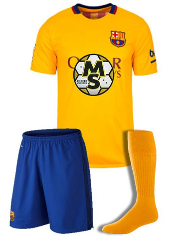 2db690c3ae38f Uniformes de futbol soccer Barcelona visitante 2015 - 2016
