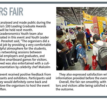 Malaysia's 100 Graduate Careers Fair in the Star's myStarjob.com pullout