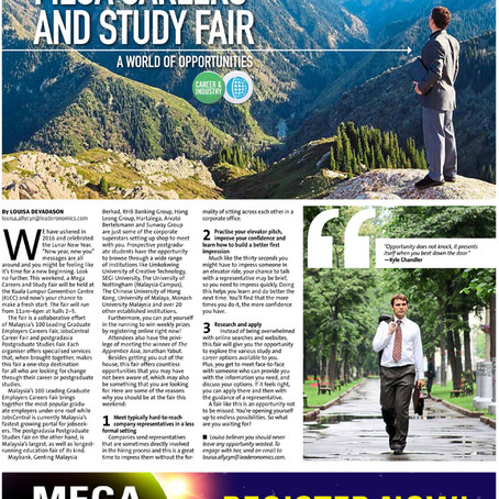 Mega Careers and Study Fair 2016 in the Star's myStarjob.com pullout