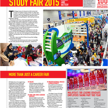 Bigger and Better - Mega Careers and Study Fair 2015 in the Star's myStarjob.com pullout
