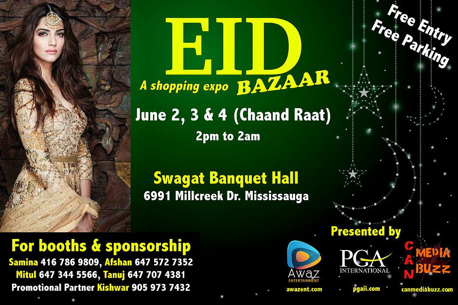 Eid Bazaar June 2019 at Swagat Banquet Hall in Mississauga