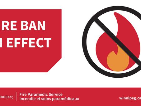 Fire ban / interdiction des feux en plein air