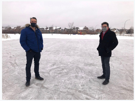 New outdoor rink in Royalwood Park