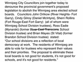 Councillors against the elimination of school boards