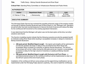 Improved traffic flow at River Road and Bishop Grandin Boulevard